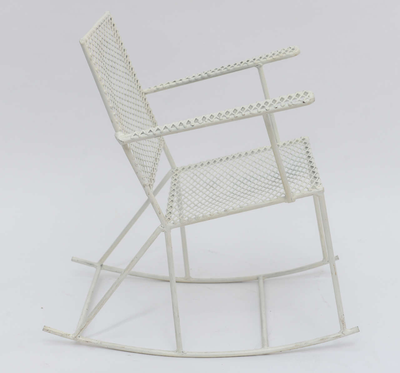 white rocking chairs for sale patio stacking canada pair of vintage mid century iron child