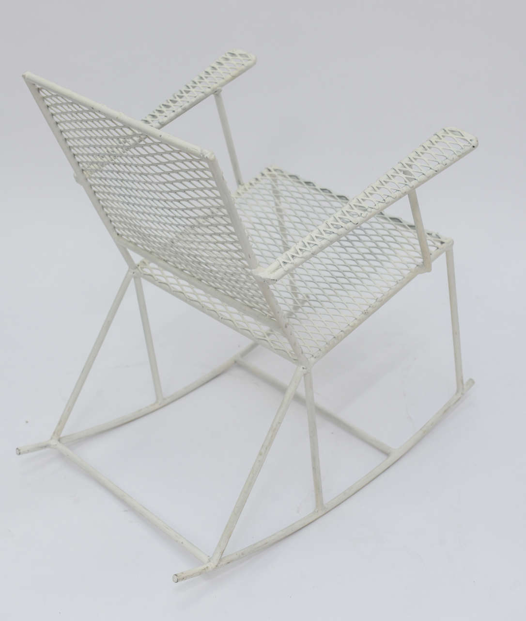 white rocking chairs for sale rattan arm pair of vintage mid century iron child