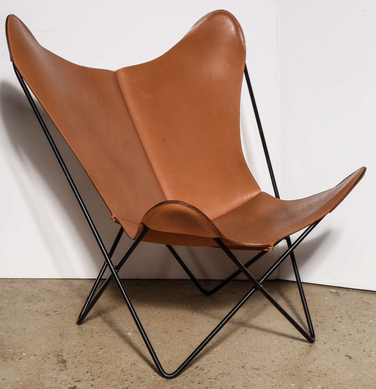 butterfly lounge chair that unfolds into a bed single knoll style hardoy at 1stdibs