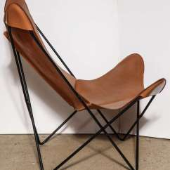 Butterfly Lounge Chair Black Leather Recliner Single Knoll Style Hardoy At 1stdibs