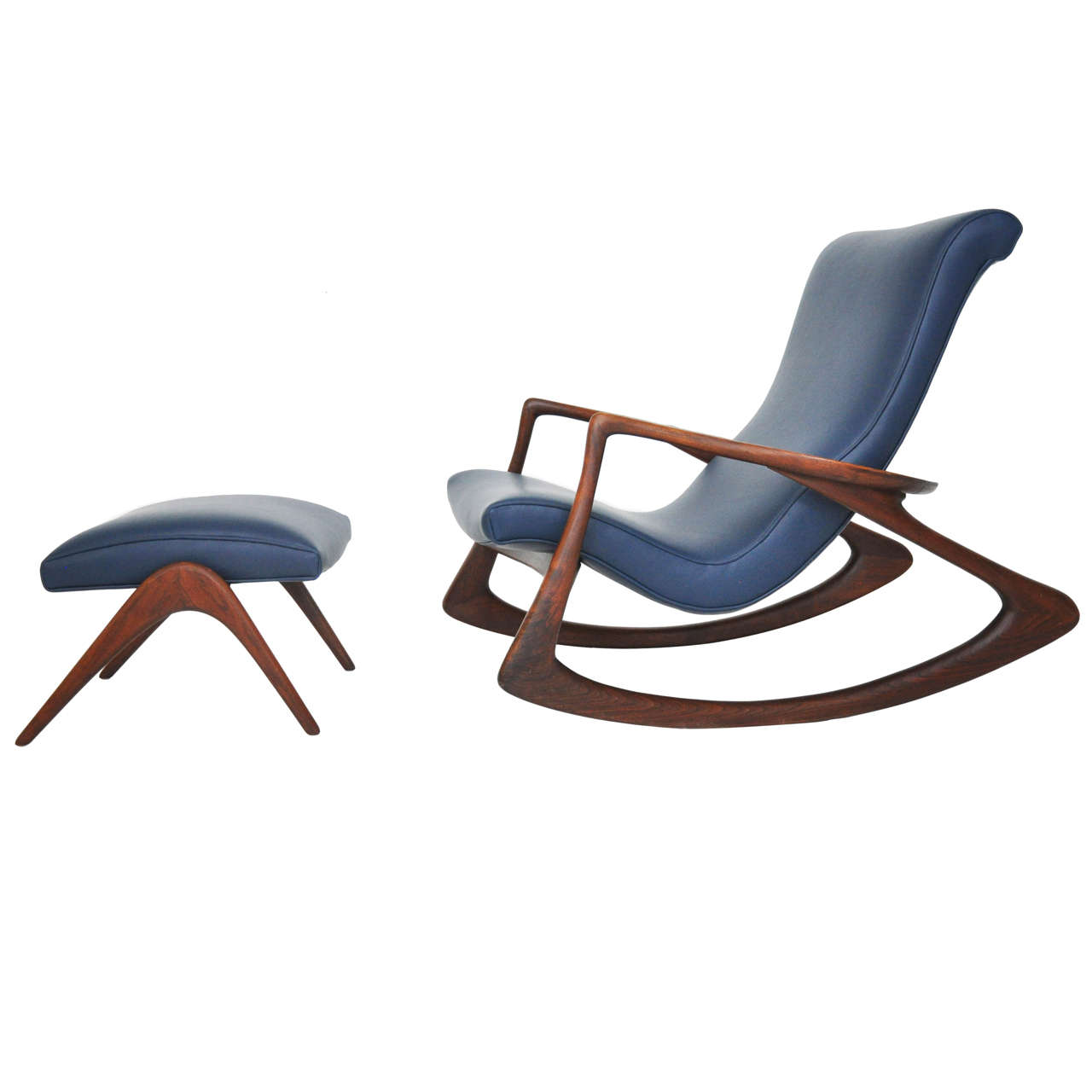 rocking chair and ottoman set covers for hire uk vladimir kagan with at 1stdibs