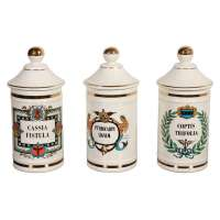 Ceramic Apothecary Jar at 1stdibs