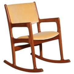 Danish Modern Rocking Chair Best Barber Chairs Teak At 1stdibs
