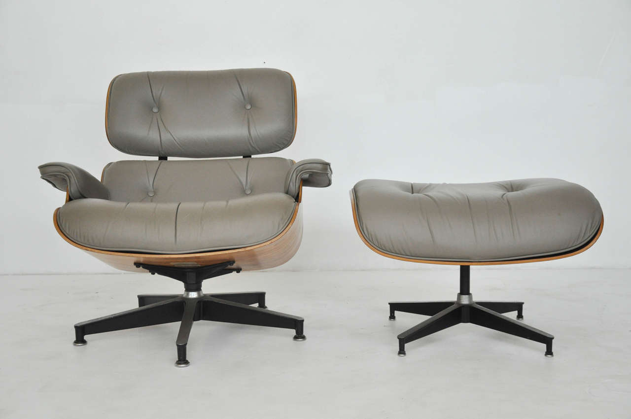 eames chair herman miller office with neck support rosewood charles lounge at 1stdibs and ottoman designed by ray for circa