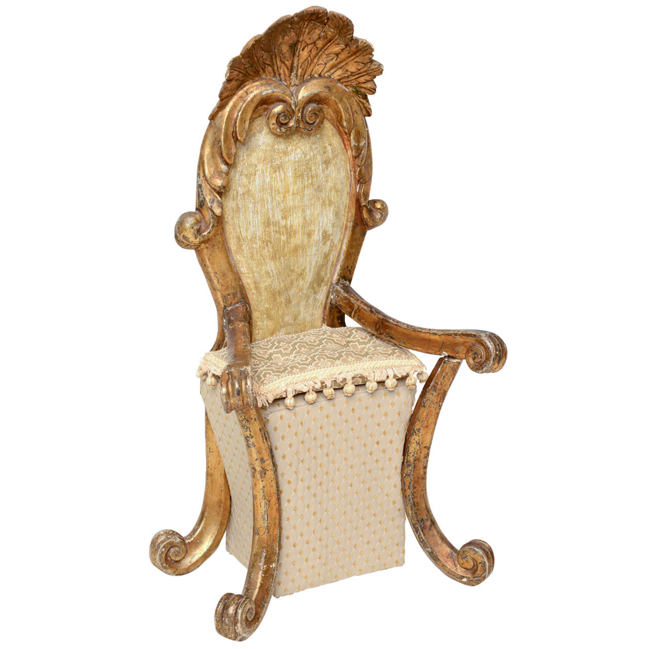 unusual armchair chair cover rentals quad cities rare and small giltwood for sale at 1stdibs