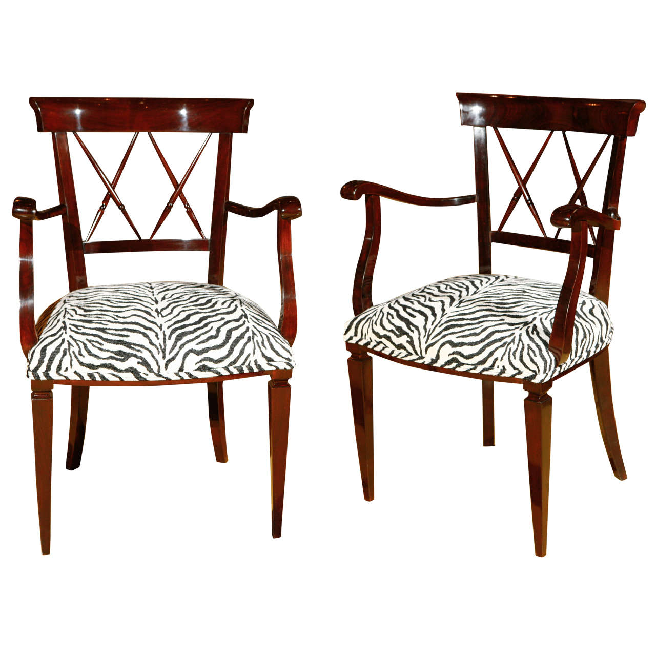 american leather swing chair stool model pair of late art deco x back chairs at 1stdibs