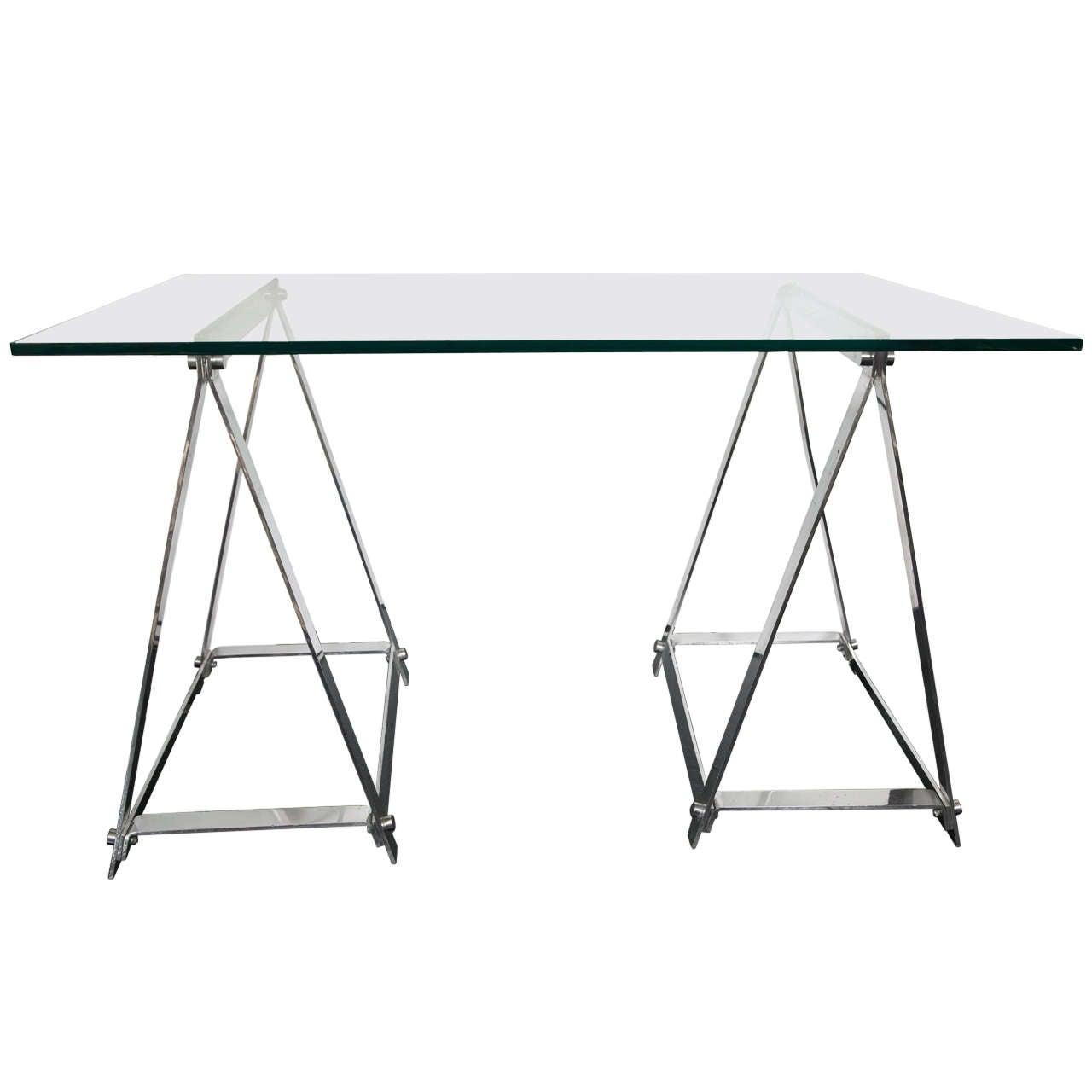 French S Jansen Style Sawhorse Desk At 1stdibs