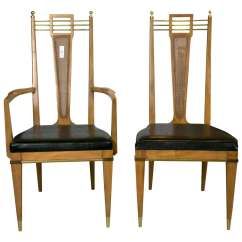 Custom Restaurant Tables And Chairs Music Studio Chair Set Of Six Metz Dining Mid Century Modern