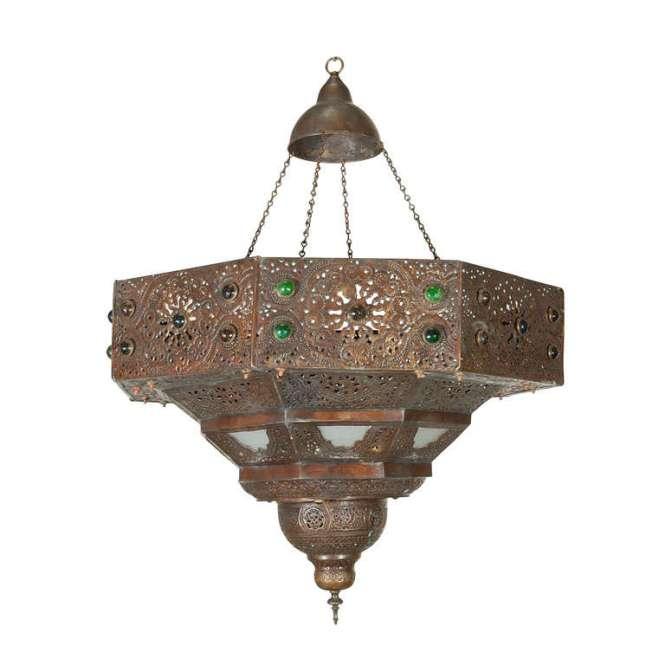 Large Antique Turkish Chandelier 1