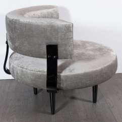 Floating High Chair Italsofa Leather Outstanding Mid Century Modernist Klismos Back
