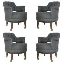 Chairs On Casters Lounge Chair Covers Target Set Of Four Game By Monteverdi Young At 1stdibs For Sale