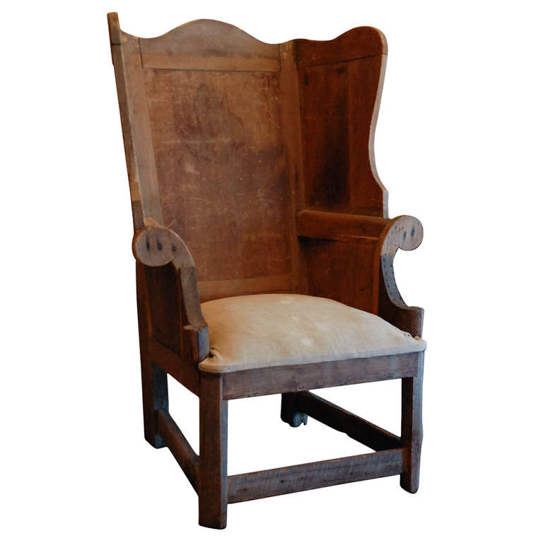Early American MakeDo Wingback  19th c at 1stdibs