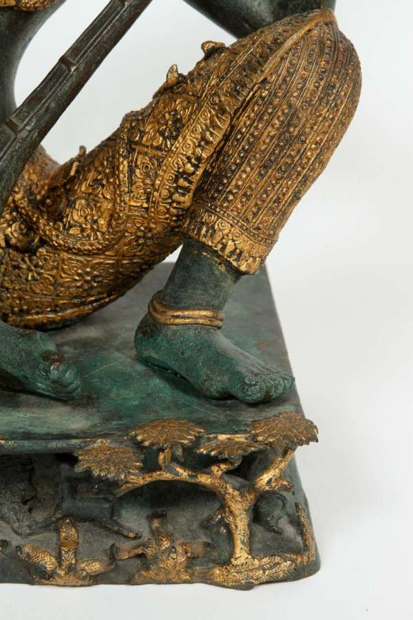 Bronze Statue Of Thai Prince Playing Music 1stdibs