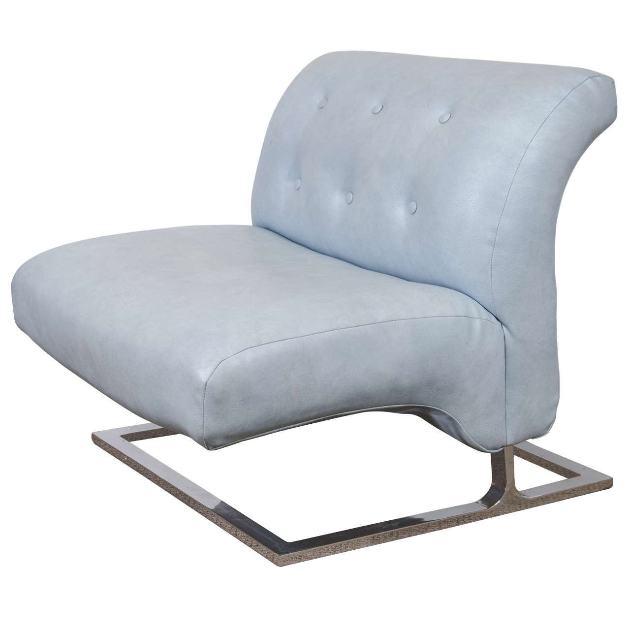 Blue Slipper Chair A Thayer Coggin Oversized Lounge Slipper Chair In Powder