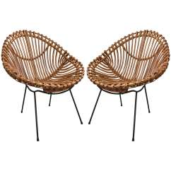Bamboo Chairs Kenny Chesney Blue Chair Rum Hat Pair Of In The Style Franco Albini At 1stdibs For Sale