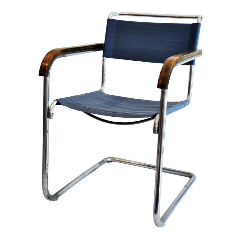 marcel breuer cesca chair with armrests ikea poang covers uk b34 armchair, bauhaus at 1stdibs