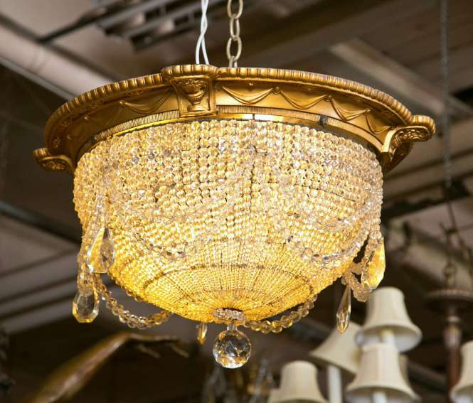 Antique Beaded Dome Crystal Chandelier From Strand Theatre Nyc At - Antique  Chandeliers Nyc Chandelier Ideas - Antique Chandeliers Nyc Antique Furniture