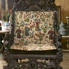 Throne Chair For Sale Wood Glider Parts Antique Oversized Carved Medieval At 1stdibs