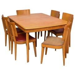 Heywood Wakefield Dining Table And Chairs Banana Fiber Rocking Chair Stingray With Six Two