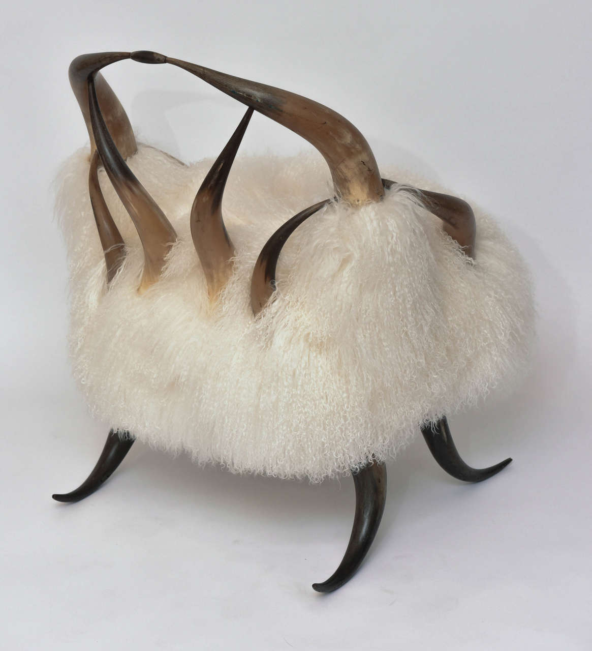 Fur Butterfly Chair Vintage Buffalo Chair With Mongolian Fur At 1stdibs