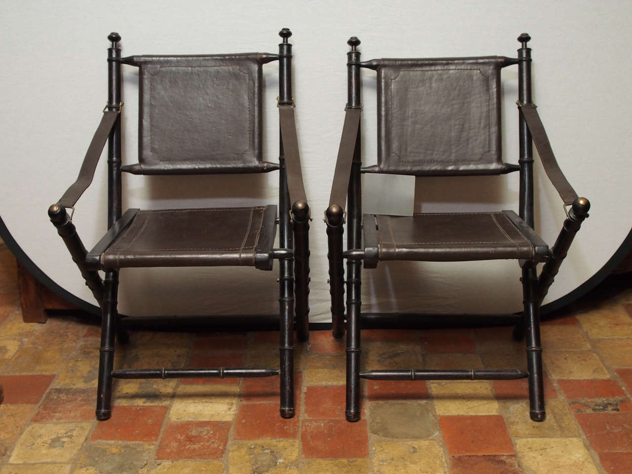 folding chair leather white outdoor dining australia 19th century at 1stdibs