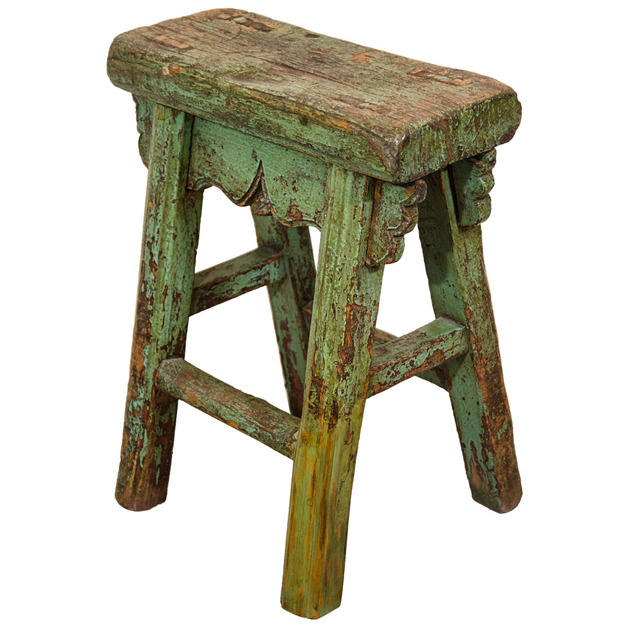 stool chair in chinese mongolian fur uk antique provincial at 1stdibs