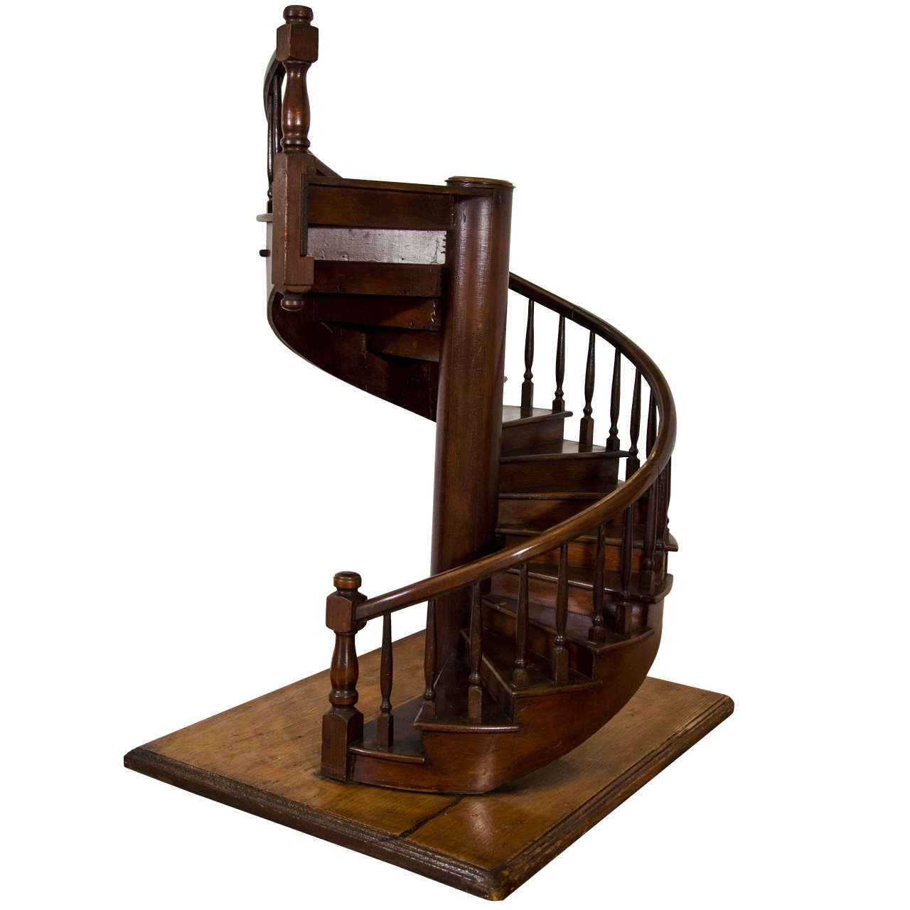 A Large Scale Edwardian Mahogany Architectural Model of a
