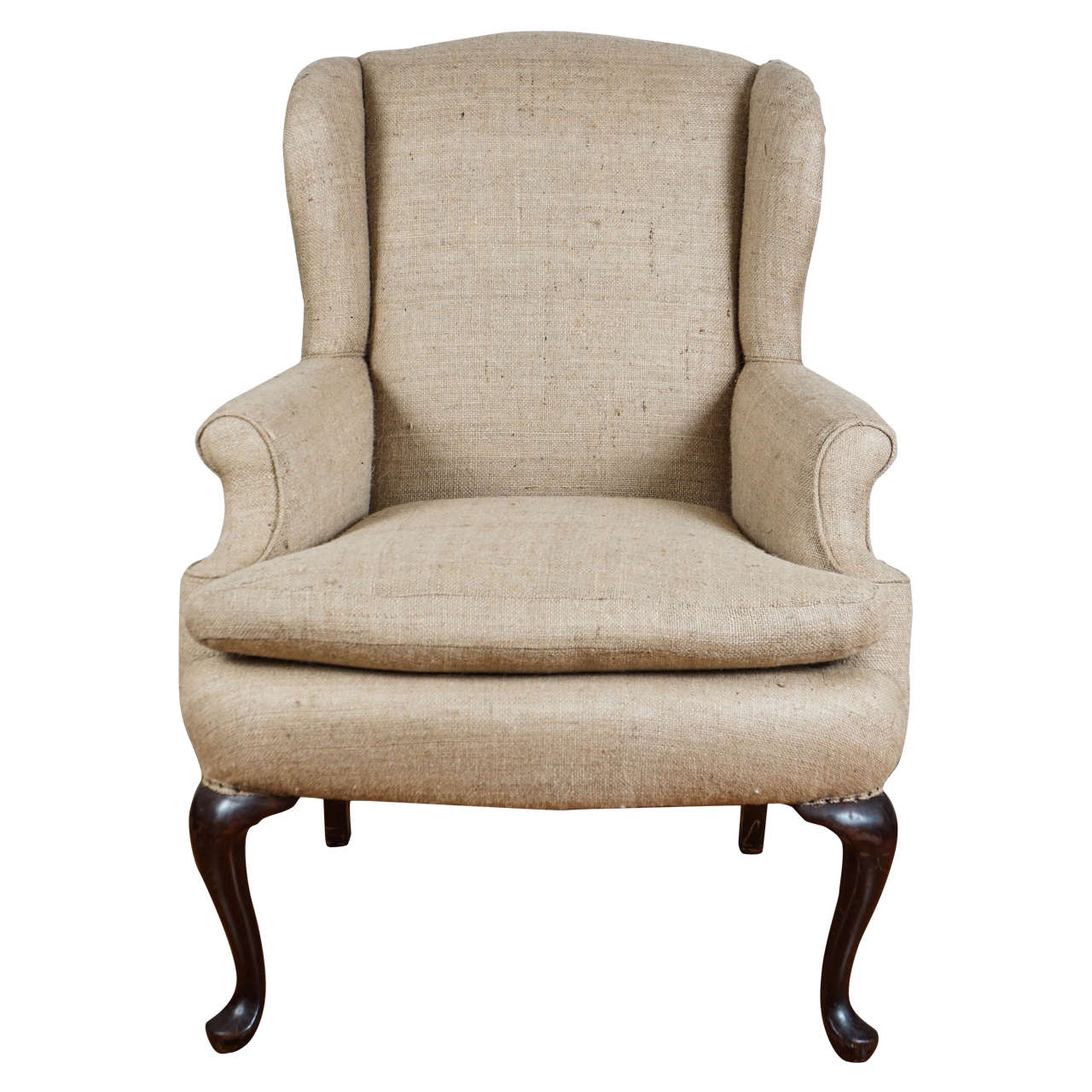 burlap chair covers for sale adirondack wingback at 1stdibs