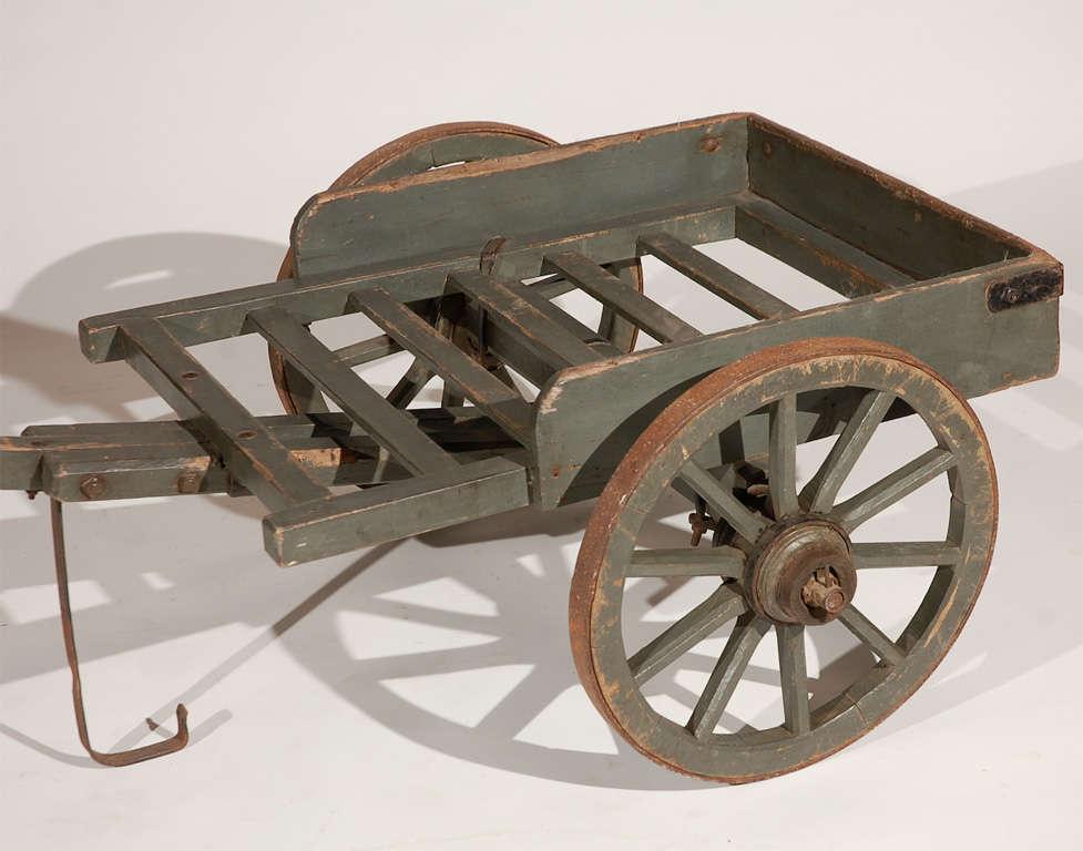 antique two wheel flower