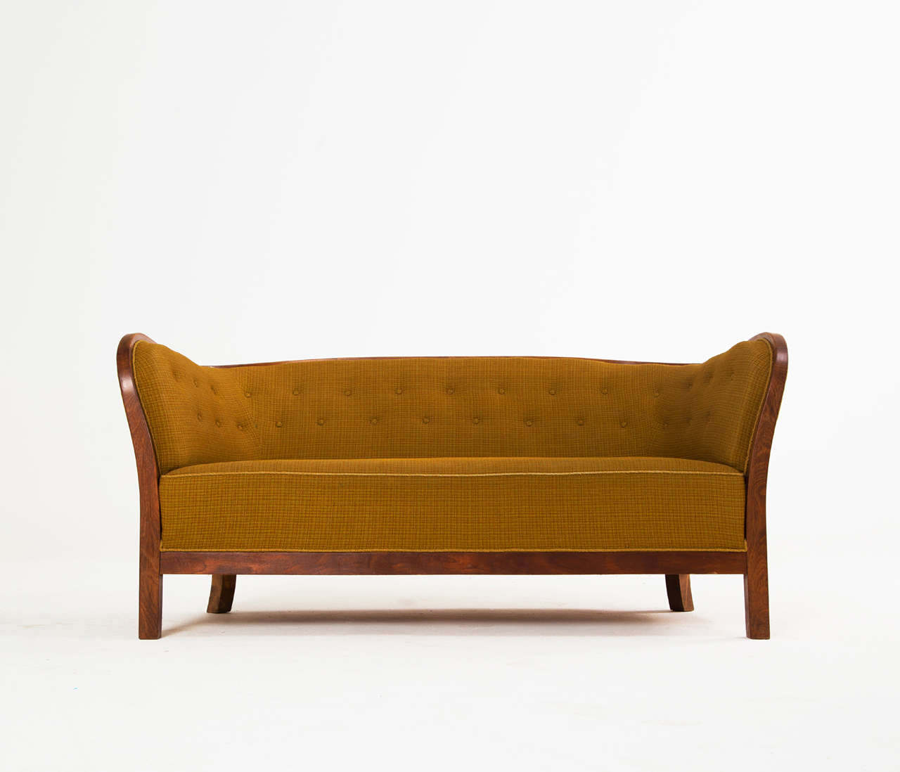 a sofa in the forties cognac leather and loveseat 1940s danish art deco for sale at 1stdibs