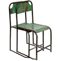 Old Metal Chairs Office Chair Carpet Protector Pr Vintage From Java At 1stdibs