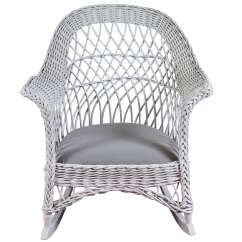 Vintage Wicker Rocking Chair Cloth Dining Room Chairs Bar Harbor Rocker For Sale At 1stdibs