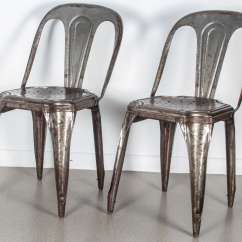 Tolix Side Chair Windsor Dining Table And Chairs Set Of Four Metal Stacking By For Sale At 1stdibs Vintage These Are Not Reproductions The Have