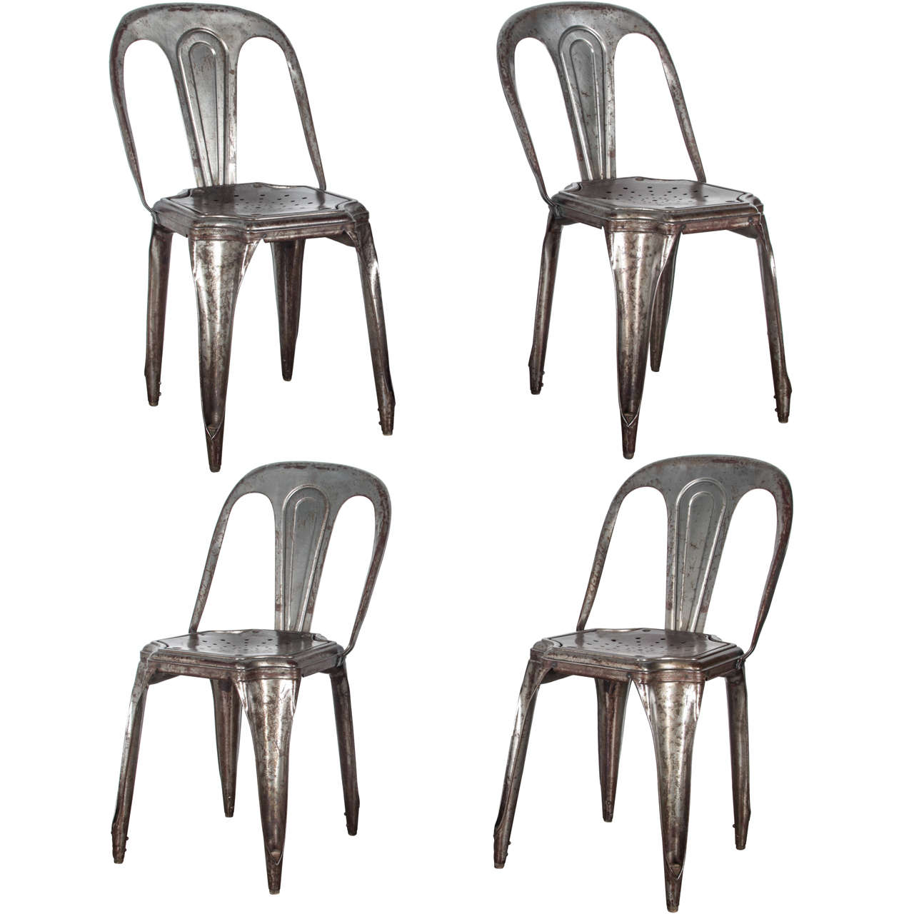 metal stacking chairs outdoor breakroom tables and set of four by tolix for sale at 1stdibs