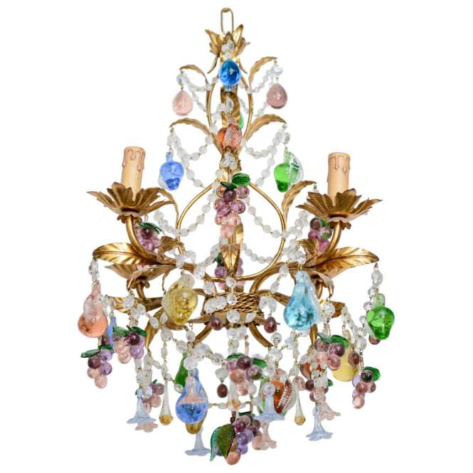 Vintage Hand N Multi Colored Murano Chandelier 1
