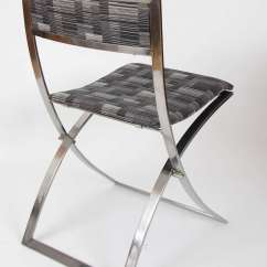 Chair Steel Folding Baby Throne Six Stainless 1960s Dining Chairs Luisa By Marcello Mid Century Modern