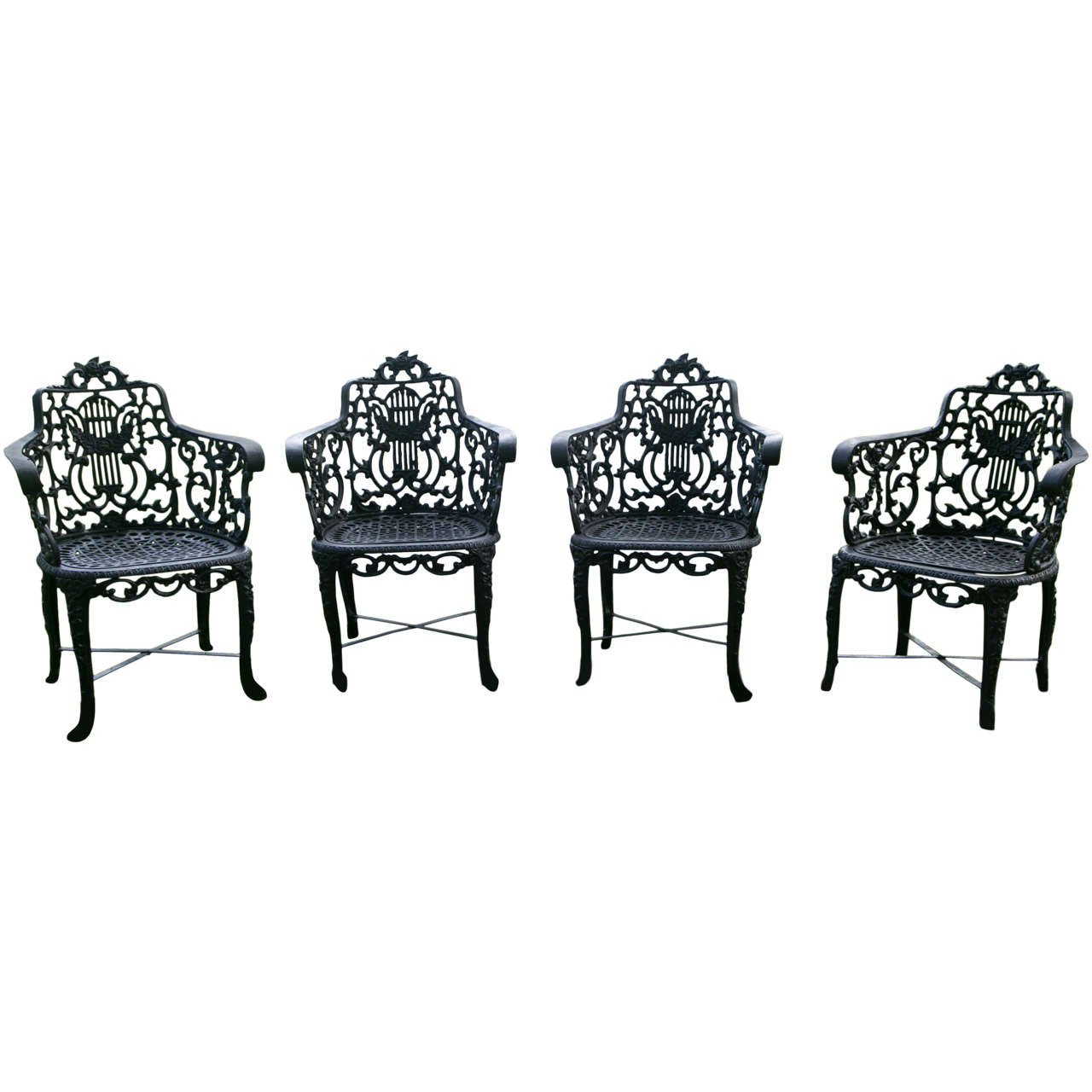 Armchairs With Lyre Backs For Sale At 1stdibs