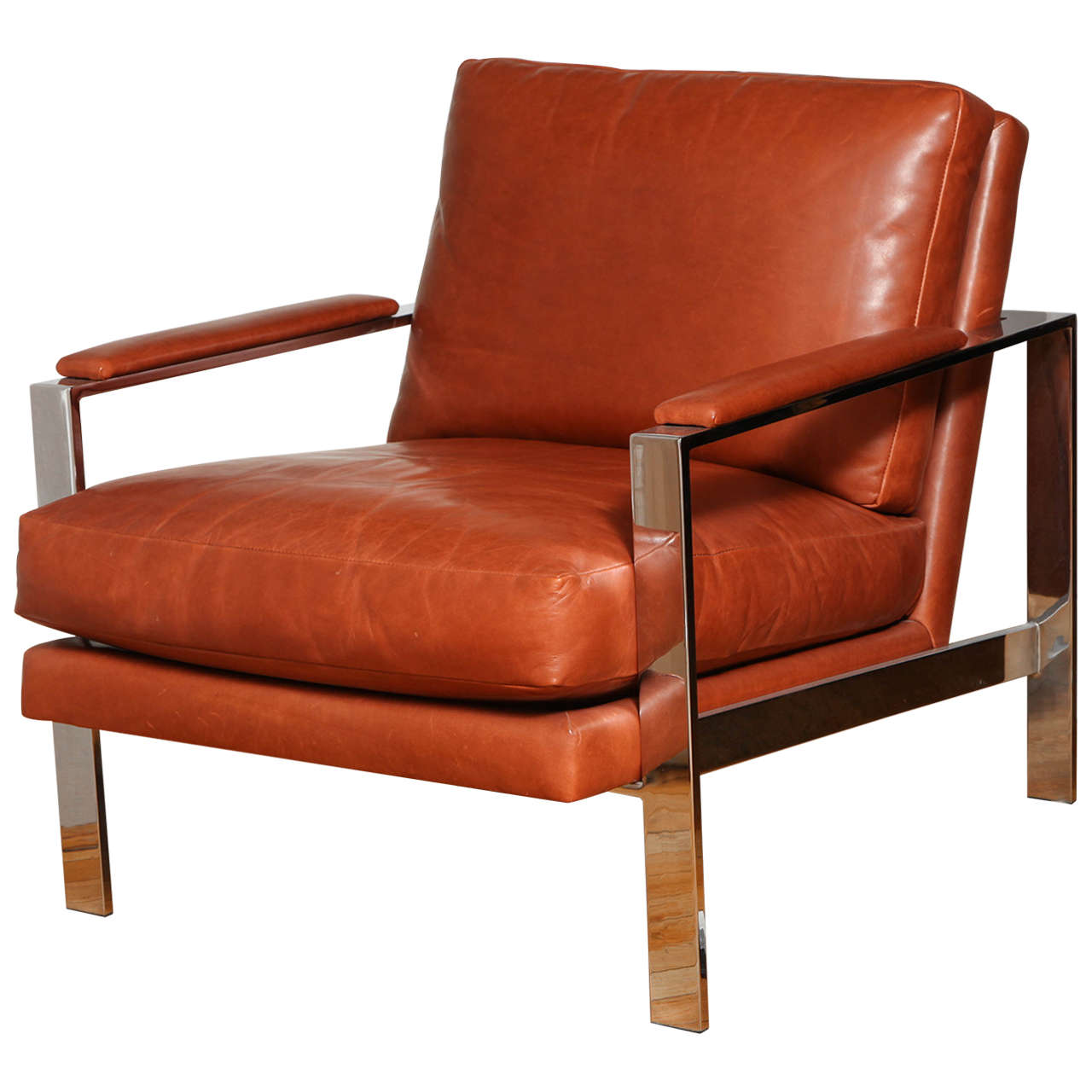 milo baughman chair how do you cane a leather and chrome at 1stdibs