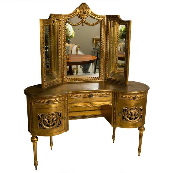 French Louis Xvi Style Gilded Vanity 1stdibs