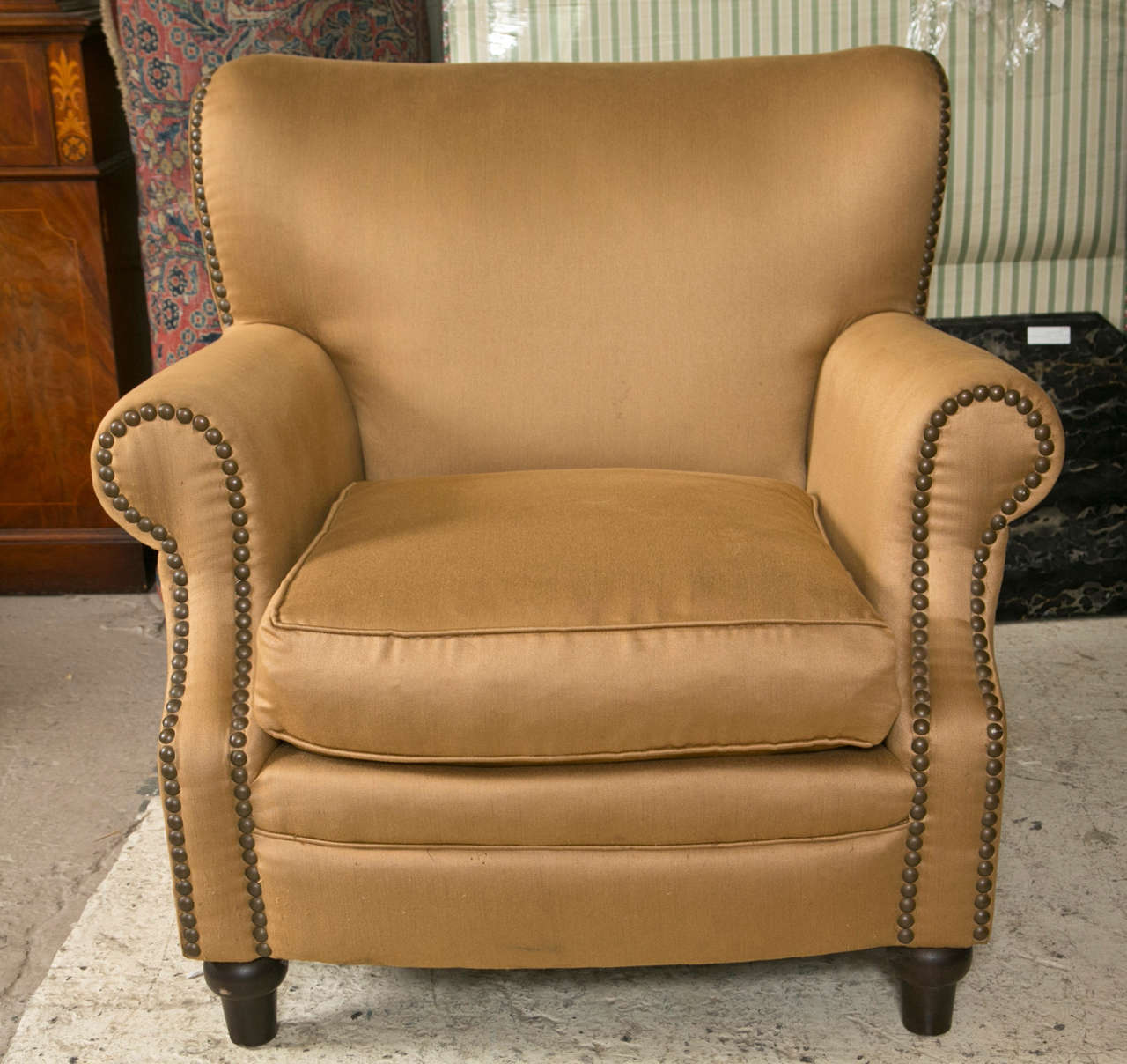 oversized arm chair bathing for elderly pair of overstuffed lounge chairs at 1stdibs