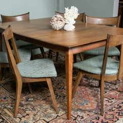 Heywood Wakefield Dining Table And Chairs Office Chair New Design Solid Birch Six For