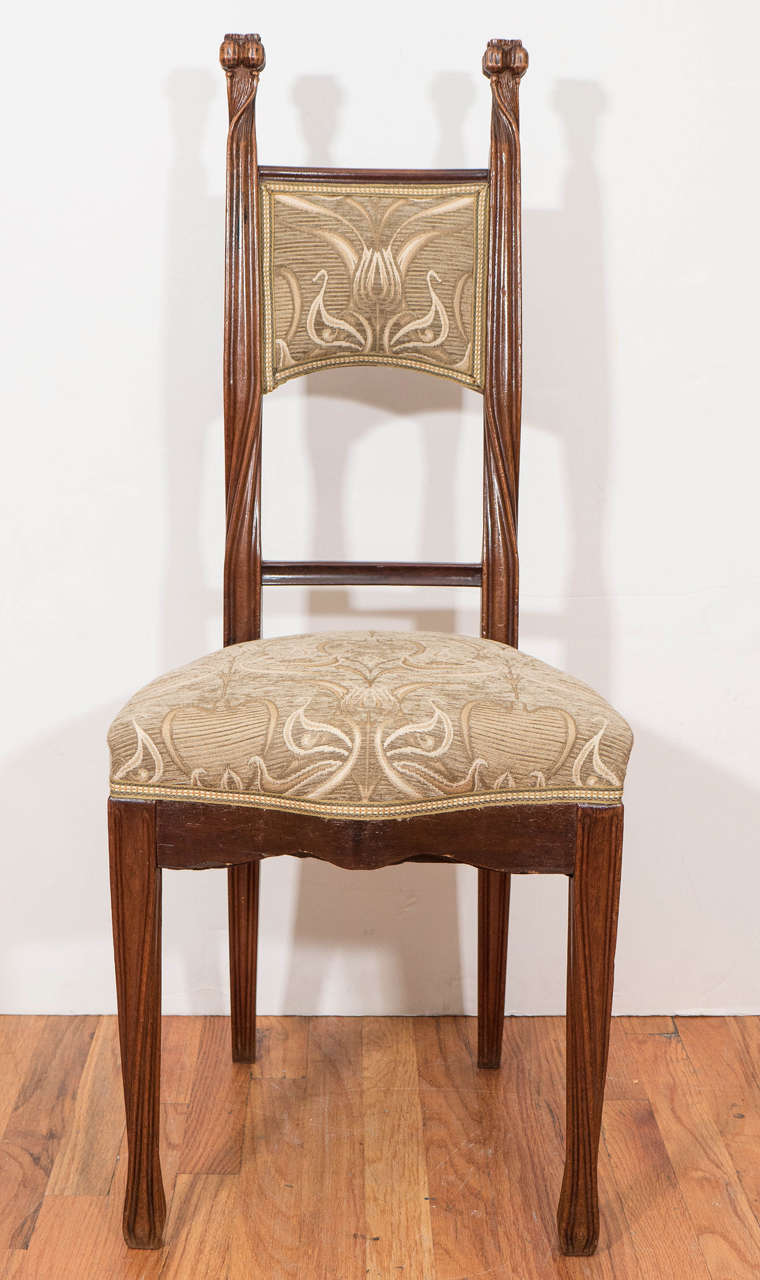 bergere chairs stool chair thailand french art nouveau 'poppy' by louis majorelle at 1stdibs