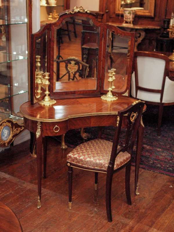 Antique French Ladies' Mahogany Dressing Table 1stdibs