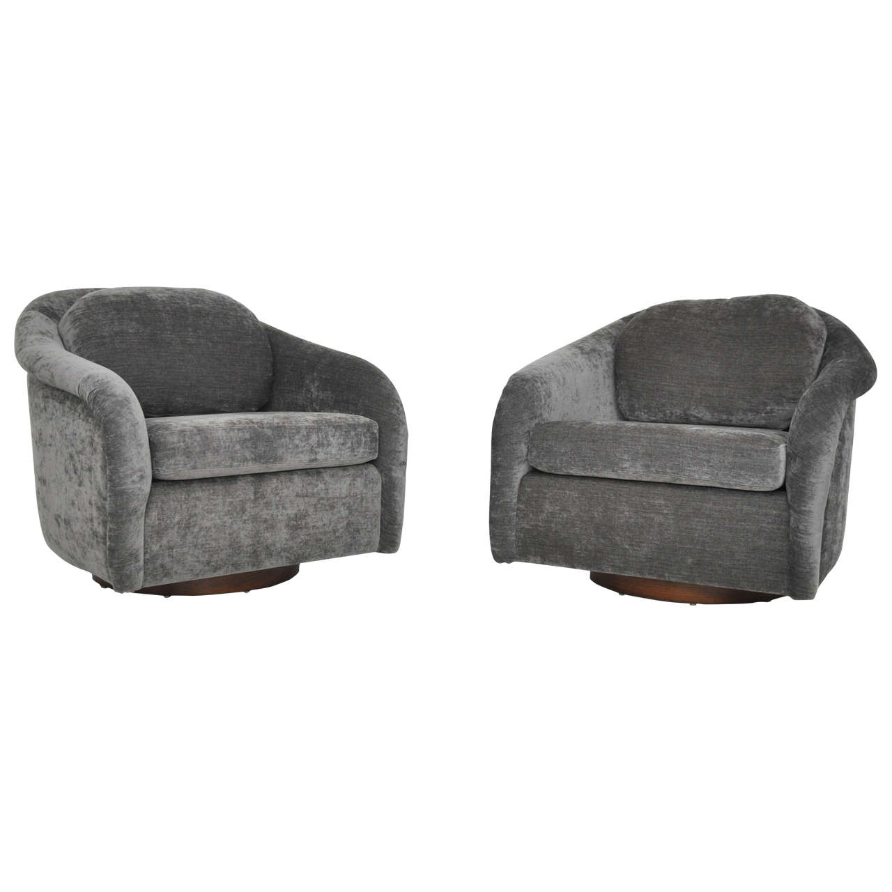 swivel chair large office mesh back support milo baughman chairs circa 1970s at 1stdibs