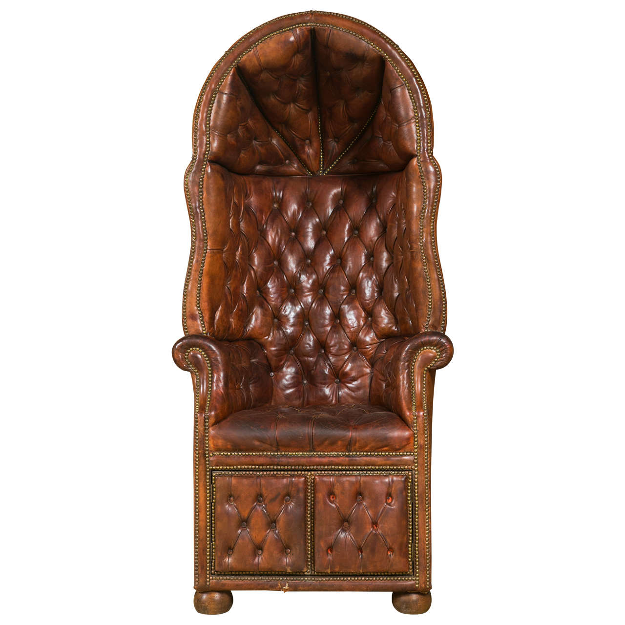 Porter Chair 19th Century English Leather Porter Chair At 1stdibs
