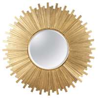 Gold Starburst Mirror at 1stdibs