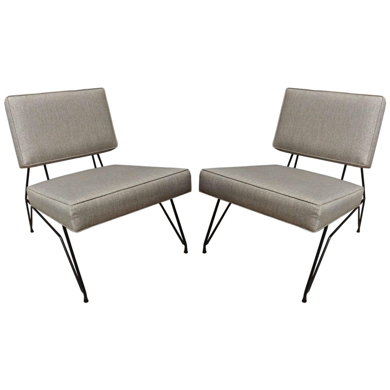 chair design iron lightweight camping pair of italian base upholstered modernist