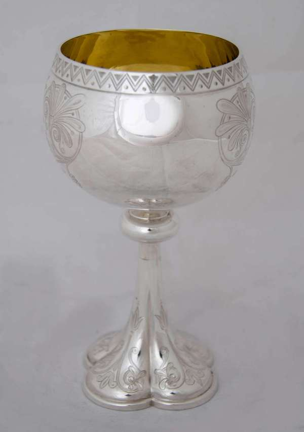 Set Of Four Antique English Silver Goblets 1stdibs