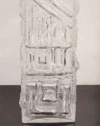 A Tall Abstract Molded Glass Table Lamp. at 1stdibs