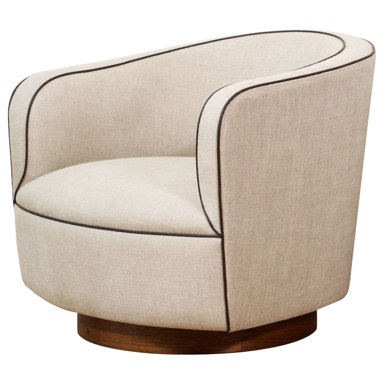 Barrel Chairs Milo Baughman Low Barrel Chair At 1stdibs
